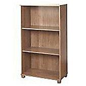 York - 3 Shelf Bookcase / Storage Shelves - Walnut
