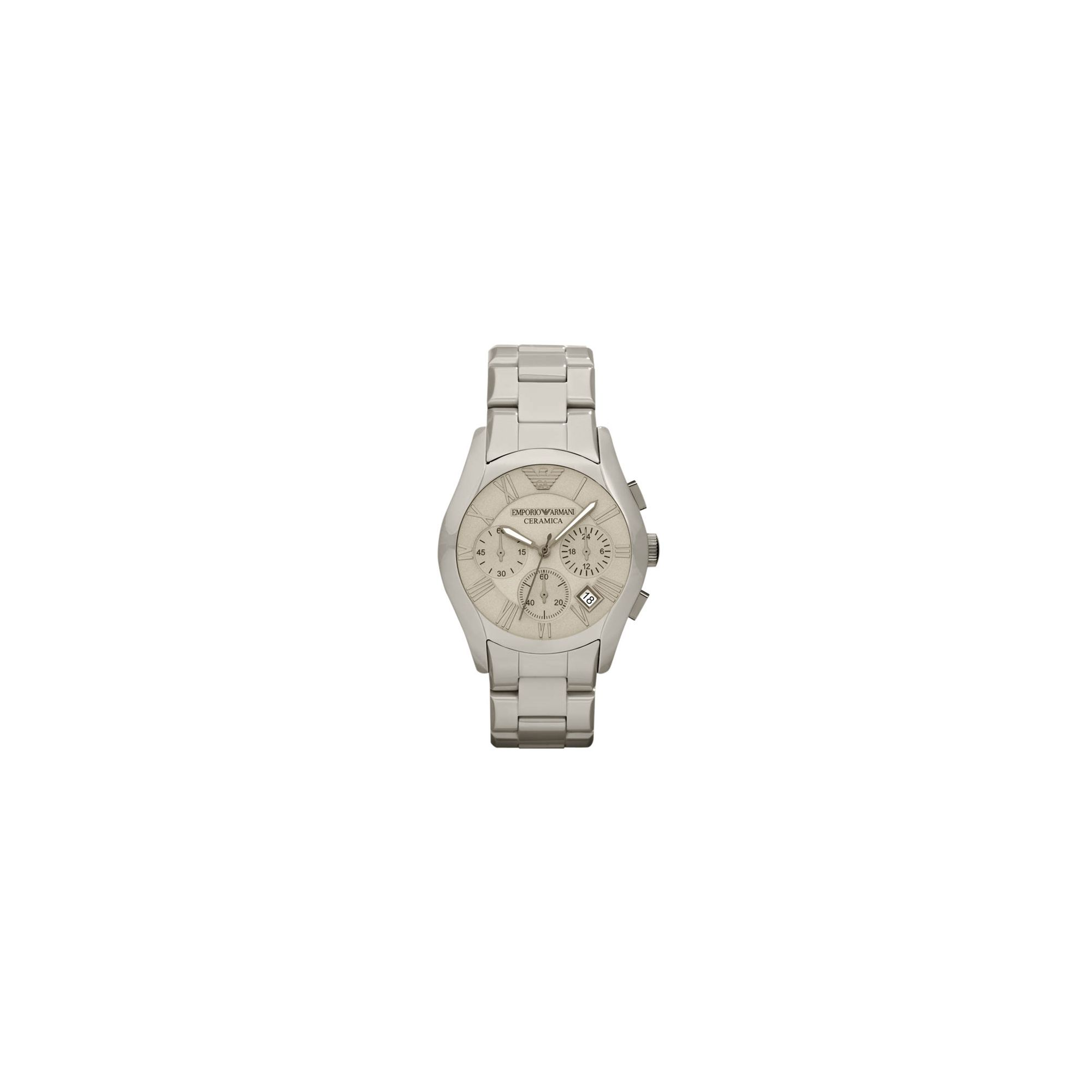 Emporio Armani Gents Cream Bracelet Watch AR1459 at Tesco Direct