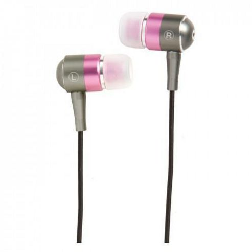 Groov-e GVEBMPK Stereo Headphones - Metal/Pink