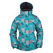 Dawn Womens Printed Ski Jacket - Purple