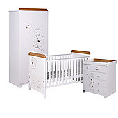Tutti Bambini Bears 3 Piece Nursery Room Set, Beech/White