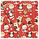 Extra Wide Chilly Christmas Wrapping Paper, 6m
