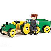 John Crane Tidlo Tractor And Trailer With Farmer