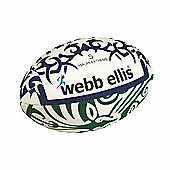 Webb Ellis Maori Extreme Flag Rugby Ball White/Green Size 5