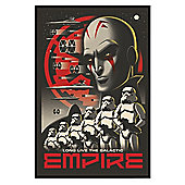Gloss Black Framed Star Wars Rebels Long Live The Galactic Empire Poster