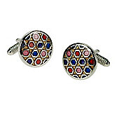 Multi Colour Round Cufflink