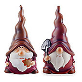 Austin & Basil the Autumnal Terracotta Garden Gnome Ornaments