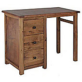 Denver Single Pedestal Aged Wood Effect Dressing Table