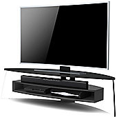 Techlink Air Curve TV Stand for up to 70 inch TV s - Gloss Black and Satin Grey