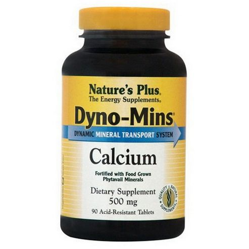 Natures Plus Dyno Mins Calcium 500mg 90 Tablets