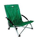 Yellowstone Low Profile Folding Camping Chair Green