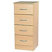 Welcome Furniture Avon 4 Drawer Chest with Locker - Walnut