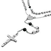 Urban Male Modern Two Colour Men's Rosary Chain In Stainless Steel
