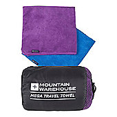 Micro Towelling Travel Towel - Mega - Purple