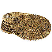 Wicker Valley Oval Rush Table Mat (Set of 6)