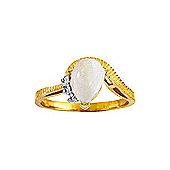 QP Jewellers Diamond & Opal Belle Diamond Ring in 14K Gold