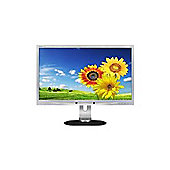 Philips 220P4LPYES/00 (22 inch) LED Backlight LCD Monitor 1000:1 250 cd/m2 1680 x 1050 5ms DisplayPort DVI VGA (Silver)