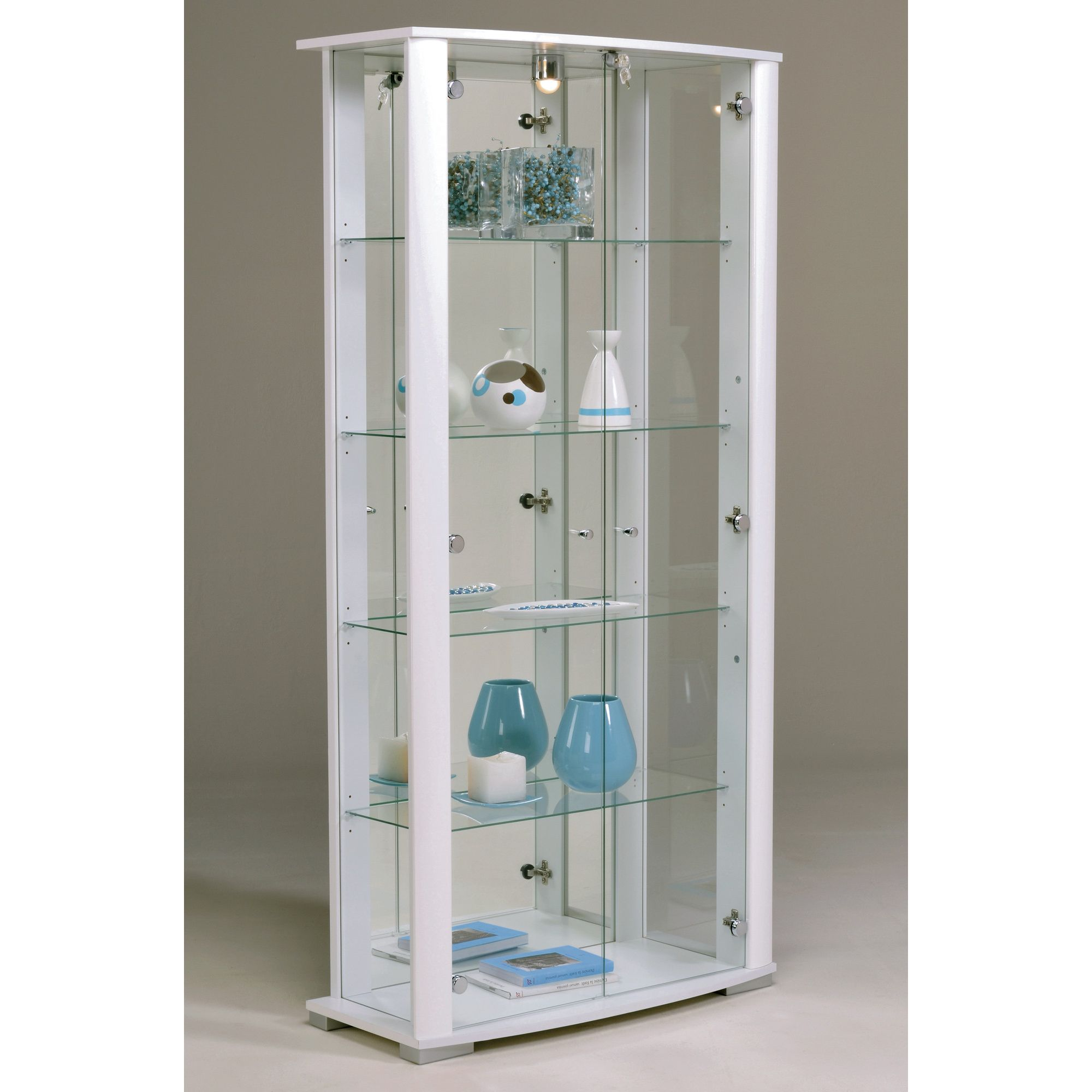 Parisot Ella Display Cabinet - White at Tesco Direct