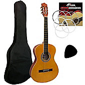 Tiger Natural 4/4 Classical Guitar Pack
