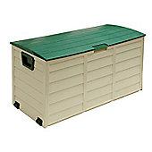 Foldable Green & Cream Garden Cushion Storage Chest