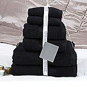 Jeff Banks 6 Piece Towel Set - Black