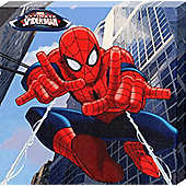 Spiderman Marvel's Ultimate Spider-Man Casting His Web Canvas Print
