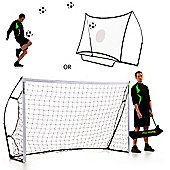 QuickPlay Kickster Ultra-Portable Combo Football Goal & Rebounder, 8ft x 5ft
