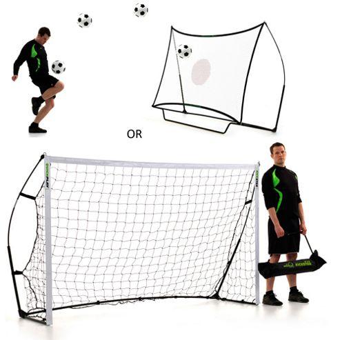 QuickPlay Kickster Ultra-Portable Combo Football Goal & Rebounder, 8ft x 5ft