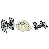 Star Wars The Force Awakens Micro Machines First Order TIE Fighter Attack Set