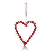 Artificial Red Berry Heart Shaped Hanging Decoration
