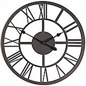 56cm Giant Roman Numeral Metal Garden Clock