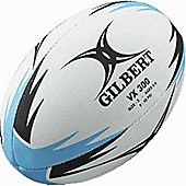 Gilbert Training Rugby Ball Vx300 - Blue - White