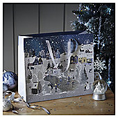 Large Snow Song Scene Christmas Gift Bag