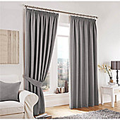 Curtina Lincoln Silver 66x54 inches (167x137cm) 3 Pencil Pleat Curtains