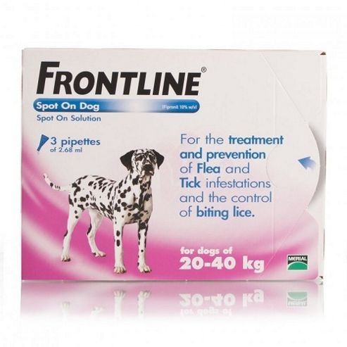 Frontline Spot On (Large Dog 20-40kg) [3 pack]