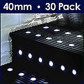 MiniSun Pack of 30 40mm LED Decking Lights in White