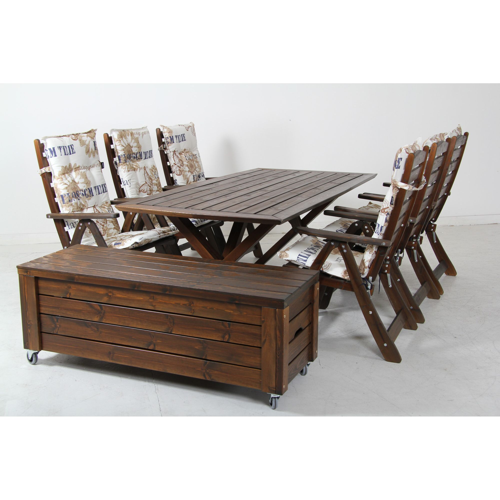 Eden Wood Borgholm 8 Piece Dining Collection