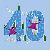 Holy Mackerel Greetings Card- 40th Birthday card