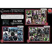 Game of Thrones 3x500pc Collectors Pack Puzzle