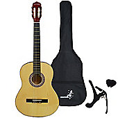 Rocket XF Series 4/4 Classical Spanish Guitar Pack