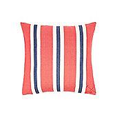 Linea Oversized Woven Stripe Cushion, Red
