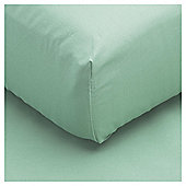 Tesco Fitted Sheet Single Aqua