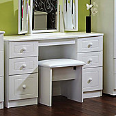 Welcome Furniture Warwick Kneehole Dressing Table - White