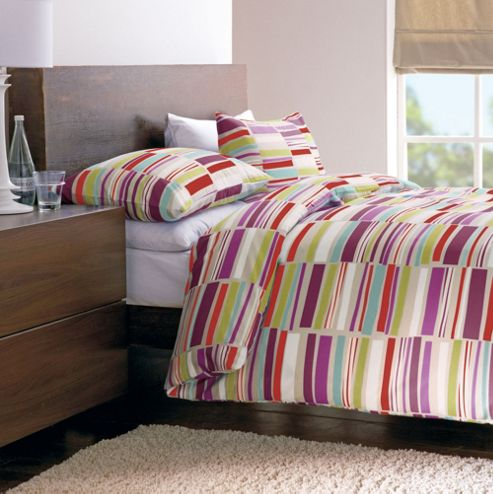 Dreams N Drapes Memphis Double Duvet Set - Multi-coloured with matching pillowcases
