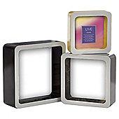Tesco Box Frame Monochrome Set of 3