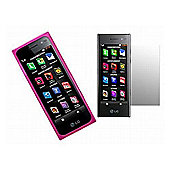 iTalkOnline Pink Twin Pack ProGel Skin Case & LCD Screen Protector - LG BL40 Chocolate