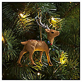 Flocked Deer Christmas Tree Decoration