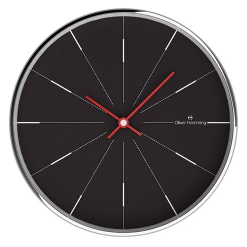 buy oliver hemming linear wall clock from our clocks range. Black Bedroom Furniture Sets. Home Design Ideas