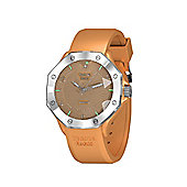 Tresor Paris Watch - ISL - Stainless Steel Bezel & Crystal Dial - Gold Silicone Strap - 44mm
