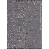 Angelo Harmony Dark Gray Knotted Rug - 240cm H x 170cm W (7 ft 10.5 in x 5 ft 7 in)